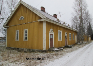 Asematie 4 hirsinen asuinrakennus